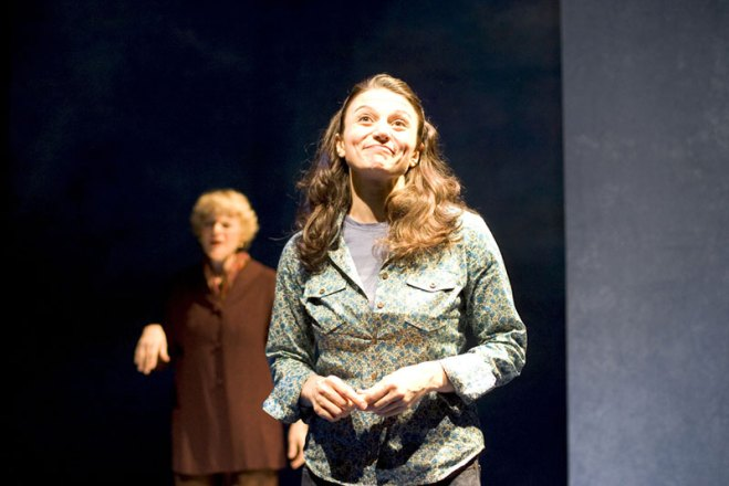 with Ellen McLaughlin in STRING OF PEARLS at Primary Stages, directed by Eric Simonson