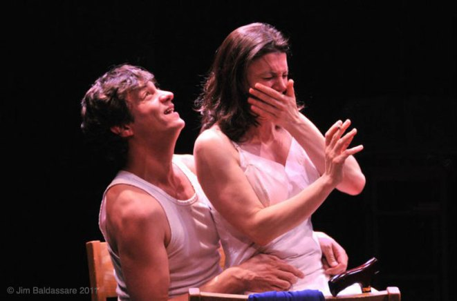 as Mother Augustina with Andy Paris in A WORLD APART at the Flea Theater, directed by Jean Randich