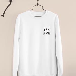 VAN POWER Pullover - WHITE