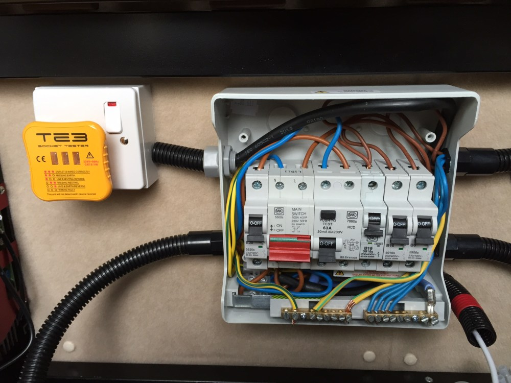 medium resolution of vw crafter van conversion 12vdc and 230vac electrics wiring consumer unit campervan