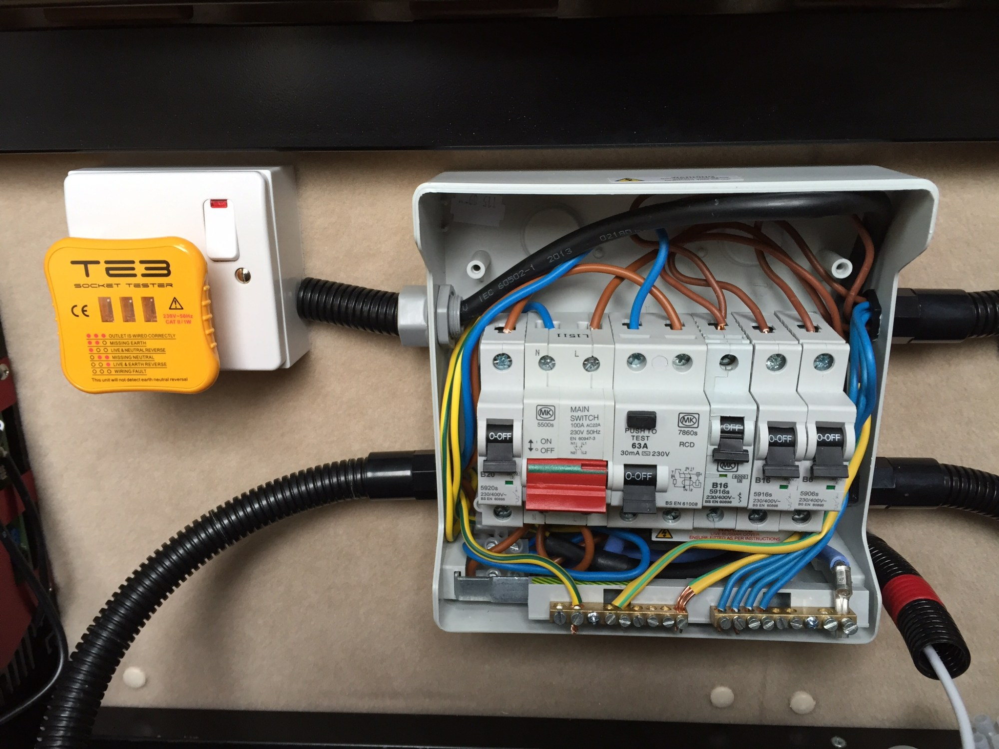 hight resolution of vw crafter van conversion 12vdc and 230vac electrics wiring consumer unit campervan