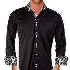 Black and White Men's Dress Shirt