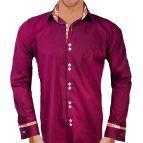 Maroon Dress Shirt Men