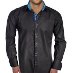 Black and Blue Men's Dress Shirts