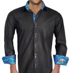 Men's Dress Shirts with Different Color Cuffs