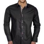 Black Designer Men's Dress Shirt