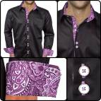 Black and Purple Men's Dress Shirt