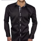 Black and Grey Men's Dress Shirt