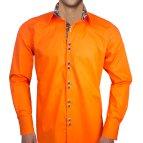 Black and Orange Dress Shirt