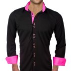 Black and Pink Men's Dress Shirt