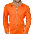 Bright Orange Men's Dress Shirts