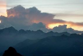 Sunset from Rif Tuckett, Benta Dolomites
