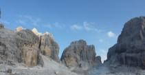 Up from Rif Alimonta; Boccalta di Armi and alta di Molveno
