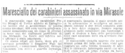 Il delitto del maresciallo Biraghi. Illustrazione tratta dal libro Bologna criminale di Giuseppe Quercioli