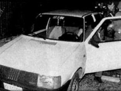 Una delle auto usate negli assalti della banda