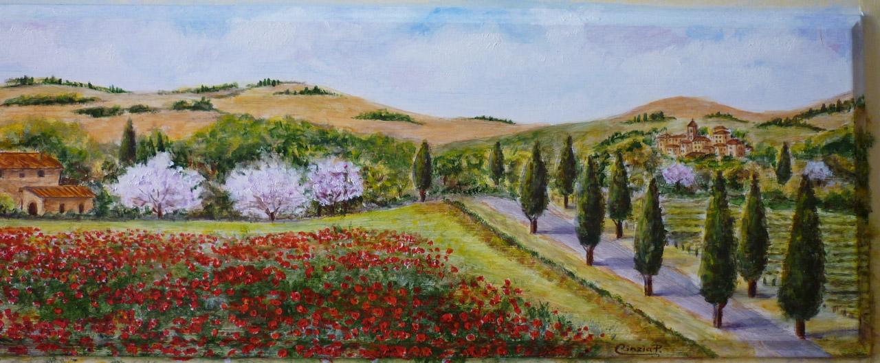 Paesaggio Toscano Dipinto