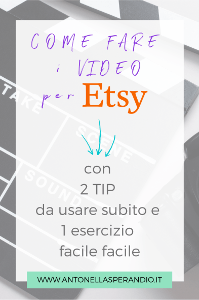 COME FARE VIDEO PER ETSY
