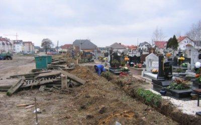 Nowe ogrodzenie cmentarza
