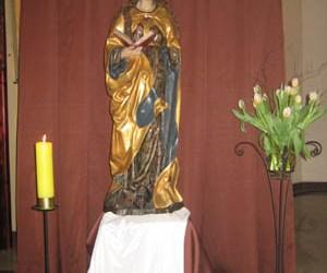 Późnogotycka figura św. Barbary