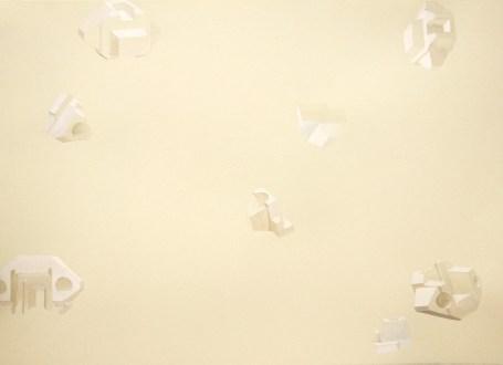 floating white
