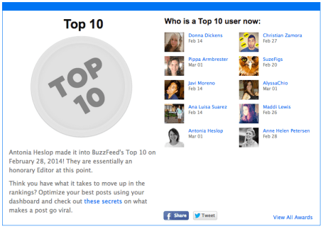 buzzfeed top 10 user