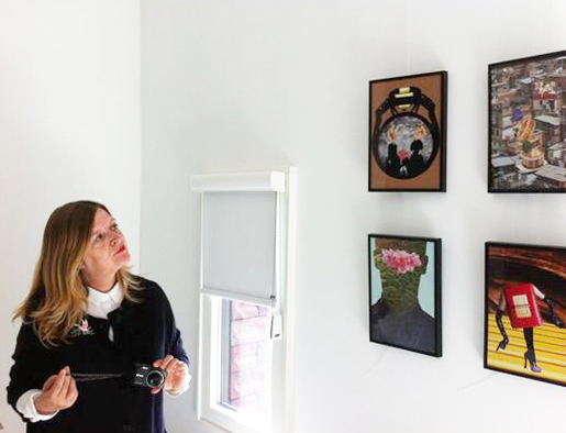 Antoniacollages exhibition at Hotel Modez, 2014
