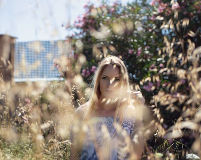 Model Photo Session with trees & flowers