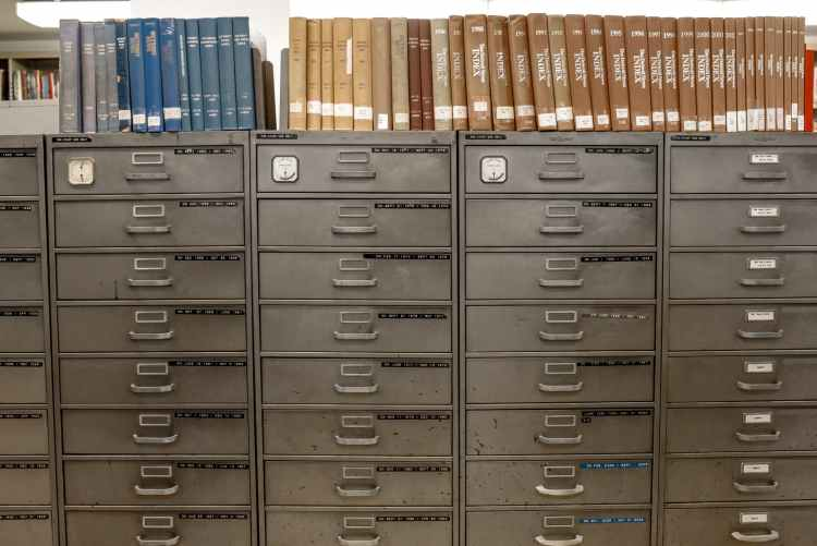 gray steel file cabinet