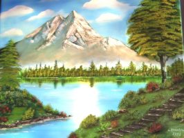 Antonie&39;s Malerei Landschaften nach Bob Ross
