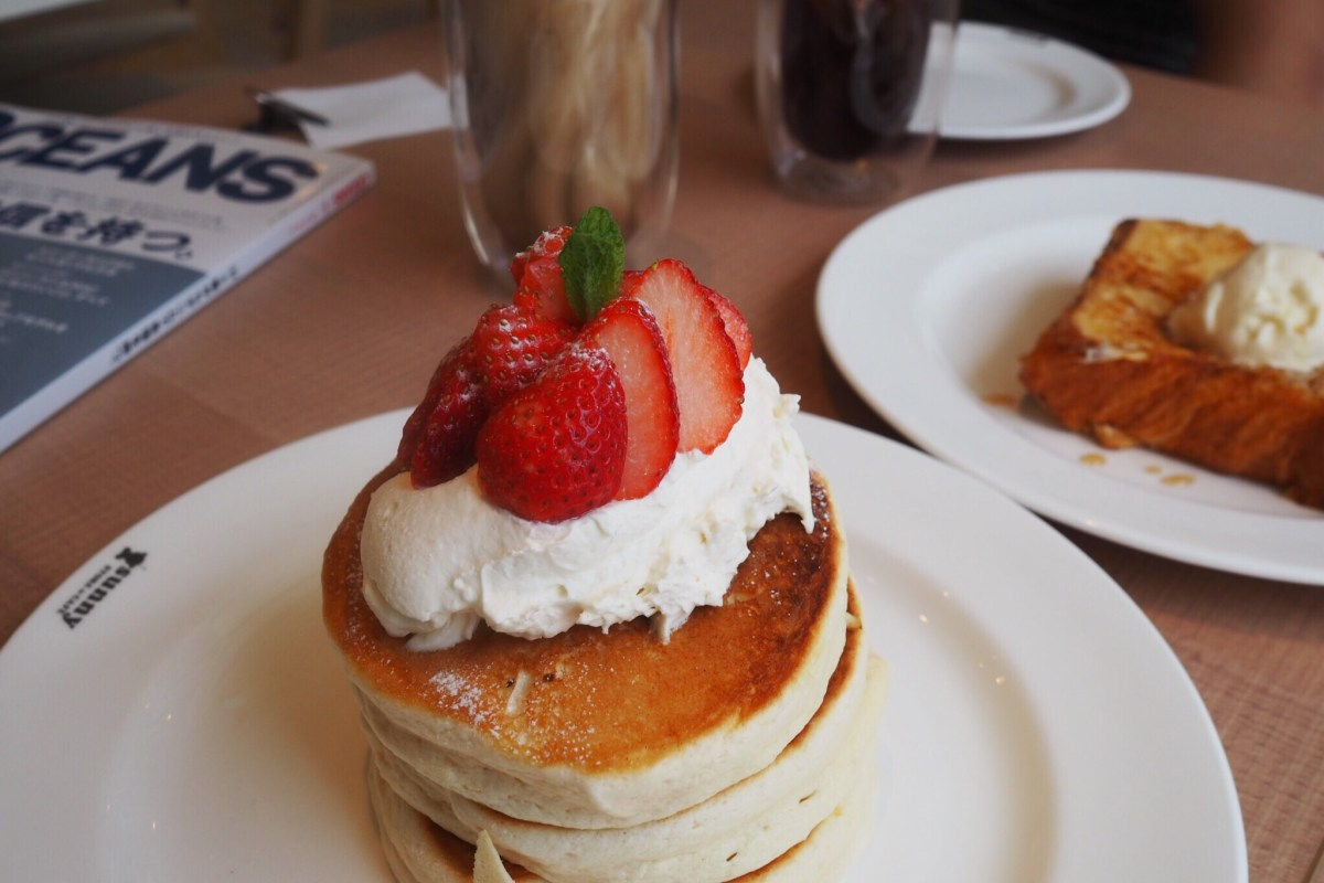 Quick stop for pancakes in Harajuku