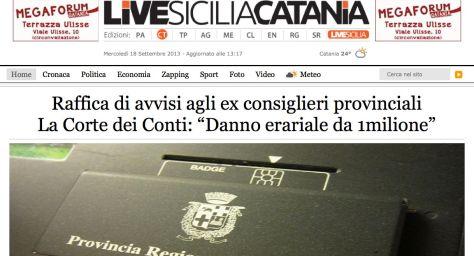 La copertina che LivesiciliaCatania ha dedicato all'inchiesta della Corte dei Conti