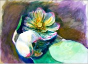 Egyptian Lotus watercolor