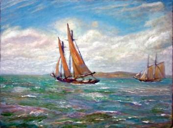 """""""May Crossing"""" 18"""" x 24"""" oil on canvas © Antonio Dias"""