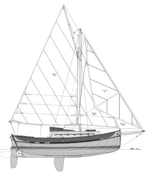 23' Coastal Cutter, Sail Plan