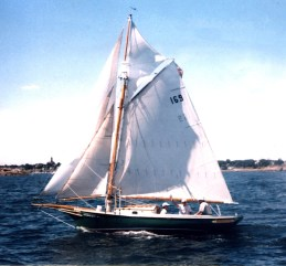 Defiance, Sailing off Winthrop
