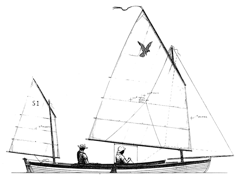 SPAR HAWK Sail Plan