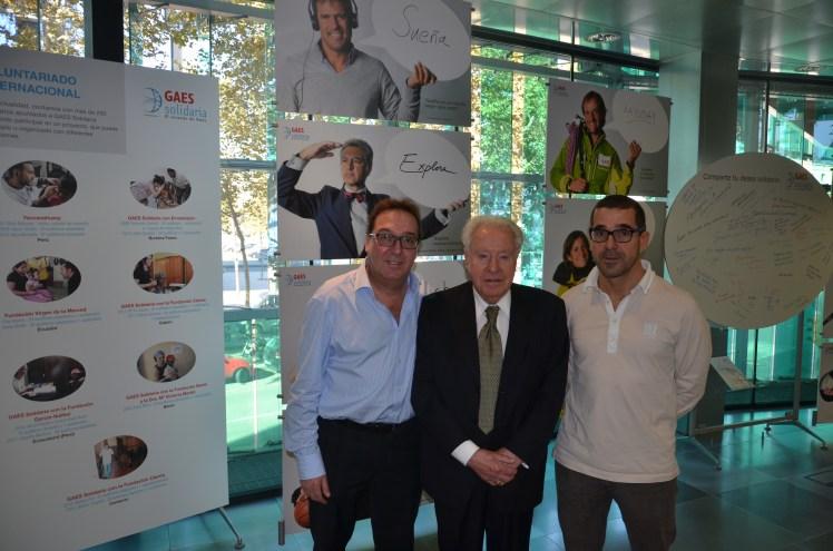 De izquierda a derecha: Joan Gassó, Josep Ferrer y Antonio Gassó.