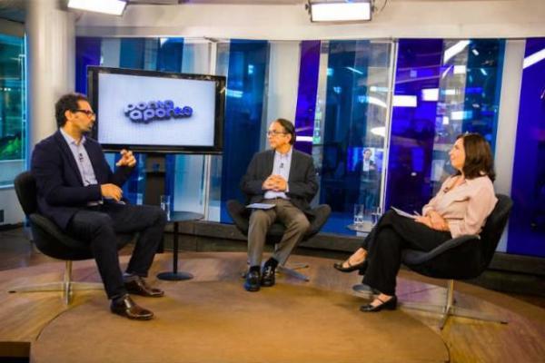 Antonio Lavareda e Mônica Bergamo entrevistam Salem Nasser / Reprodução: Blogs NE 10