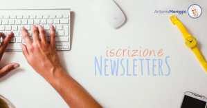 Iscrizione alla newsletter - Antonio Mariggiò