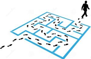 puzzle-della-soluzione-di-orme-del-percorso-dell-uomo-di-affari-24029542
