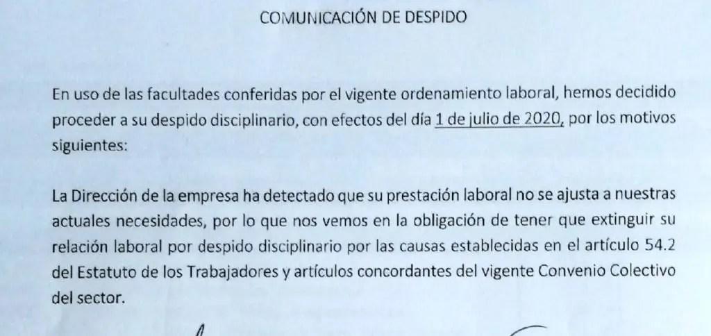 la importancia carta de despido antonio silva abogado especilaista laboral despido
