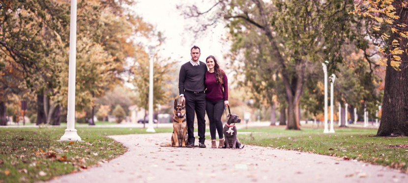 How to include your dog(s) in your engagement photo session