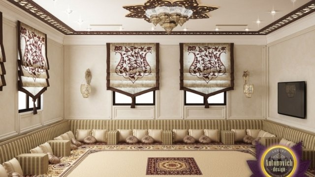 Bespoke Majlis Interior Design In Dubai By Luxury Antonovich Design