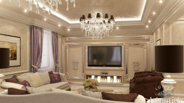 Family Sitting Room Design in Dubai by Luxury Antonovich