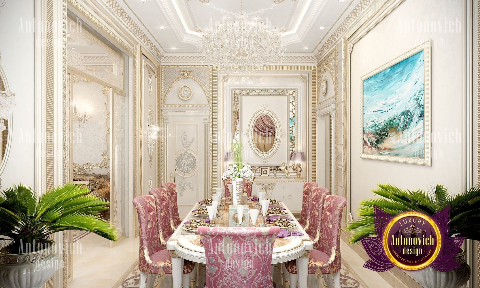 Luxury classic dining room