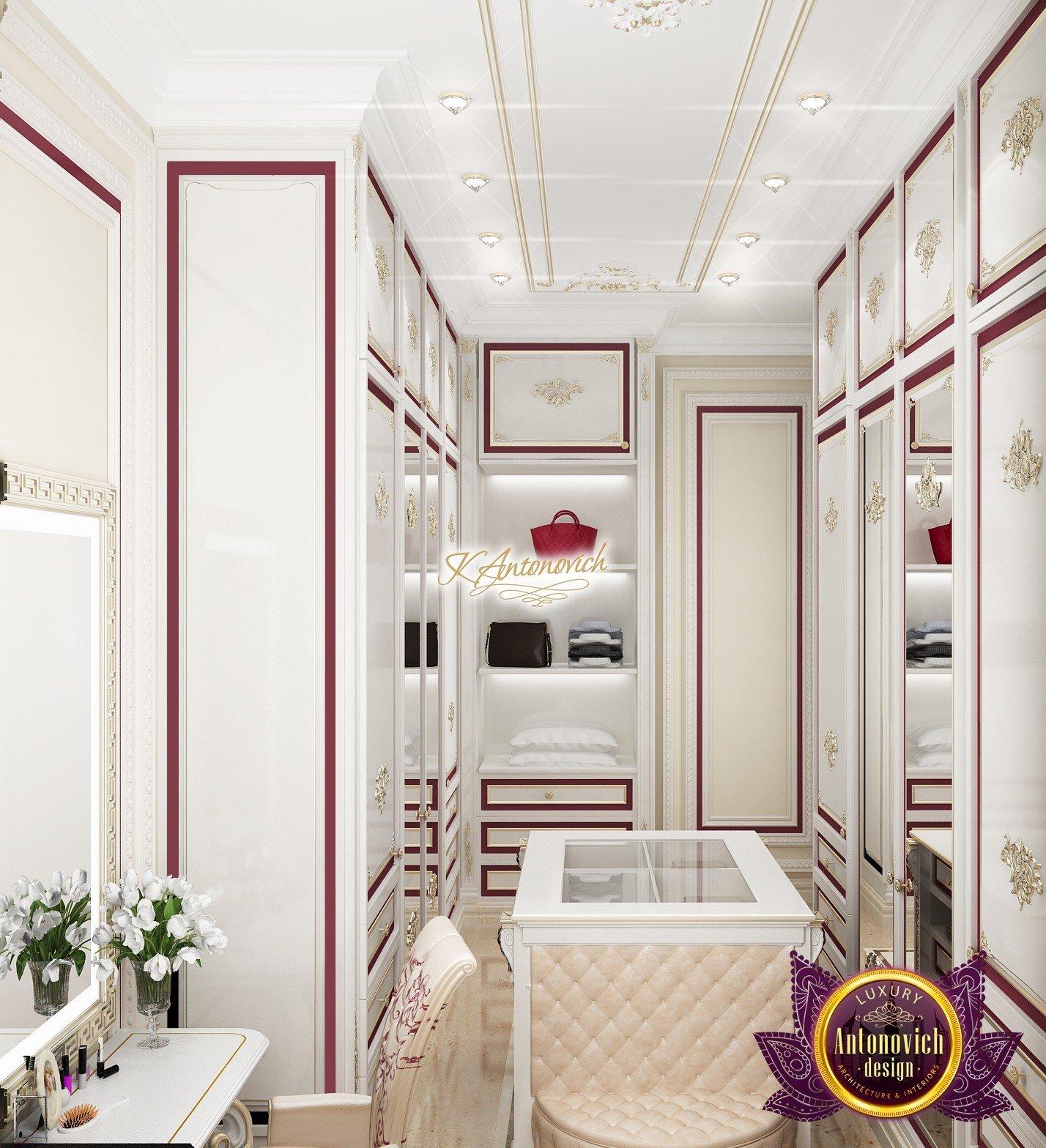 Luxury White Dressing Room In Karachi