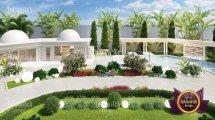 Facade Of Luxury Villa In Dubai