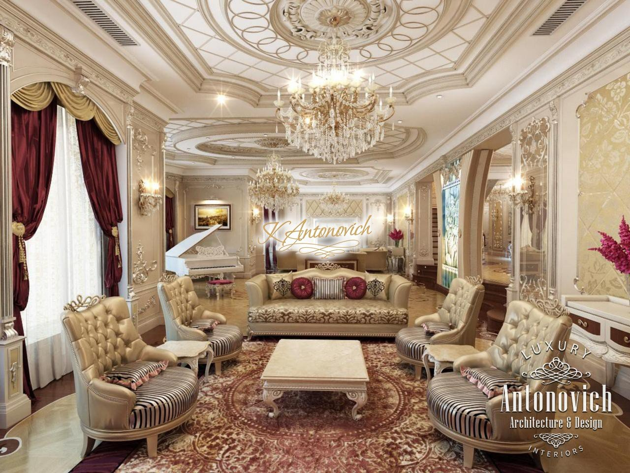Luxury Living Room Interior Dubai