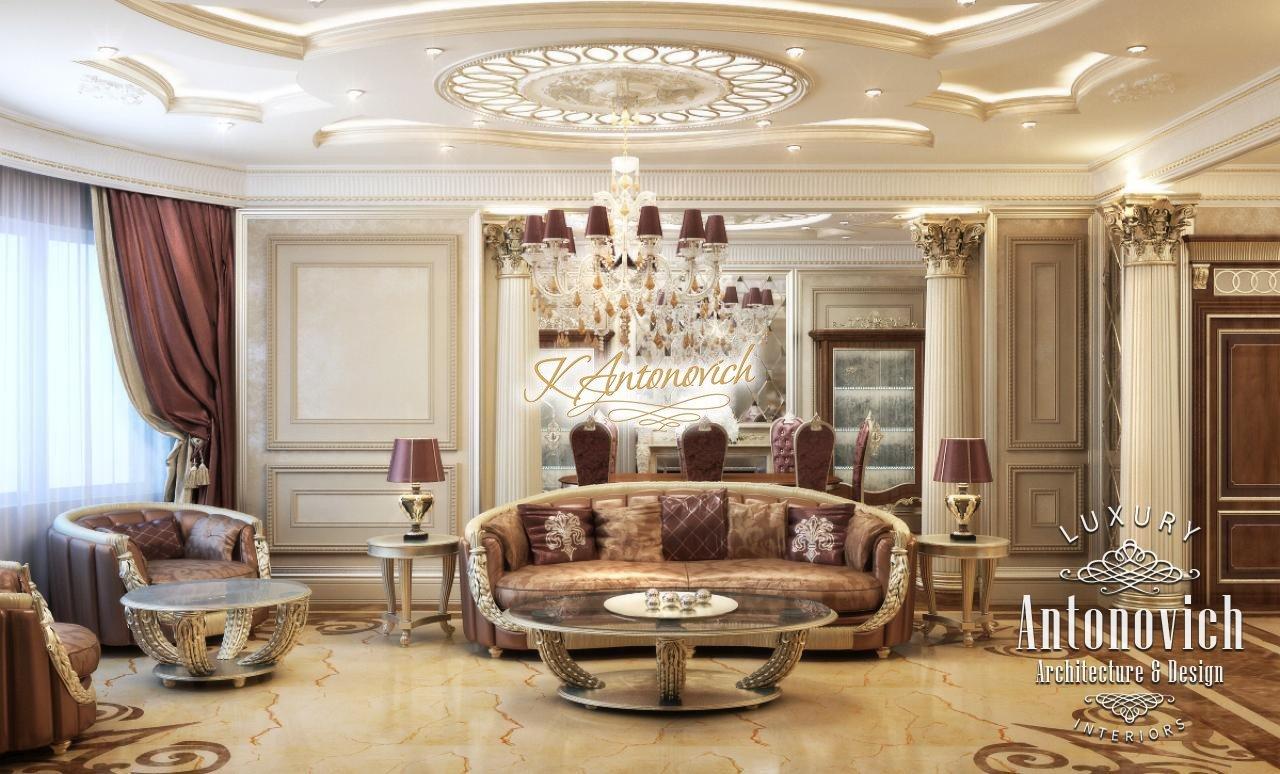 Interior Design Living Room in Classic Style