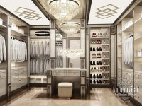 Dressing Room Interior with a Showcase